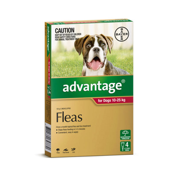 Advantage Red Spot-On for Large Dogs - 4 Pack 1