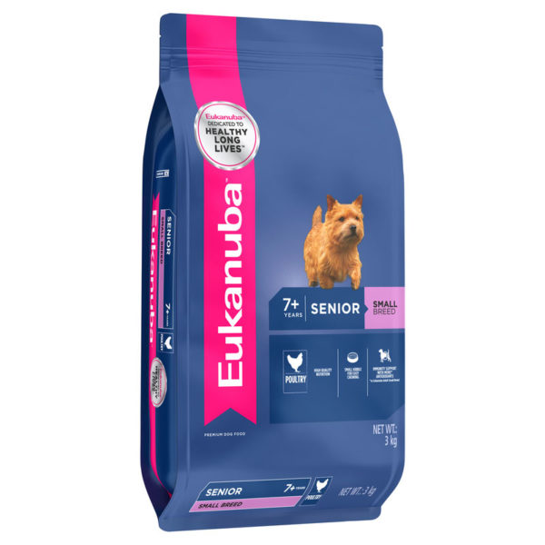 Eukanuba Senior Dog Small Breed 3kg 1