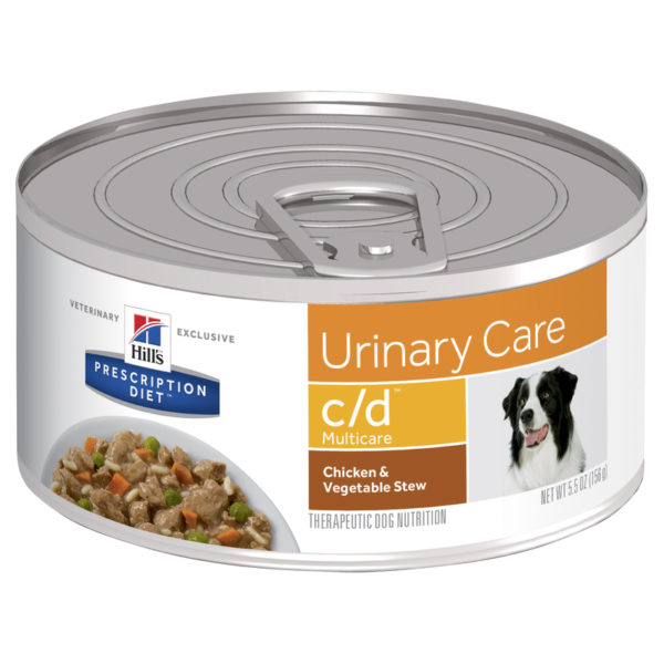 Hills Prescription Diet Canine c/d Urinary Multicare Chicken & Vegetable Stew 156g x 24 Cans 1