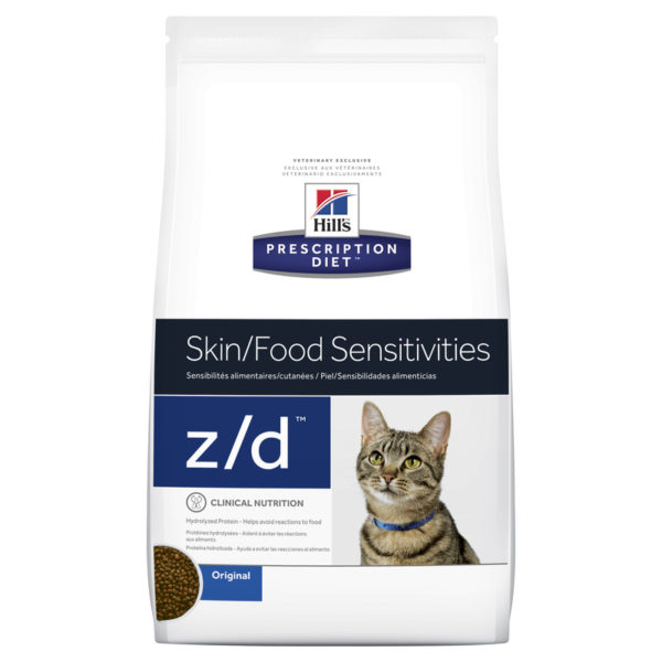 Hills Prescription Diet Feline z/d Skin/Food Sensitivities 1.8kg 1