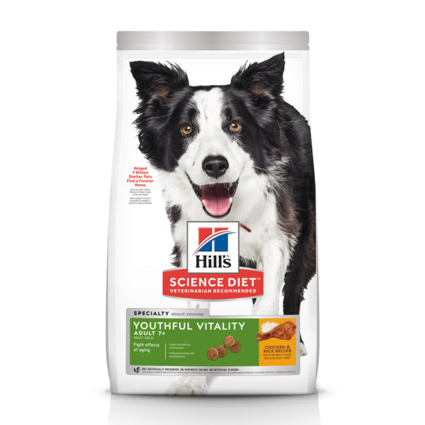 Hills Science Diet Adult Dog 7+ Youthful Vitality 5.67kg 1