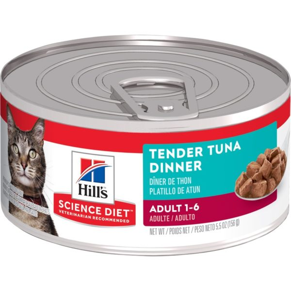 Hills Science Diet Adult Cat Tender Tuna Dinner 156g x 24 Cans 1