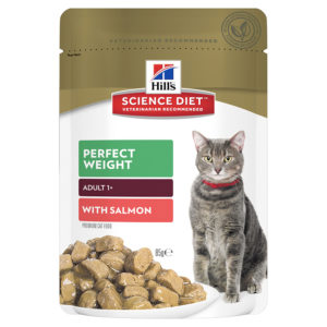 Hills Science Diet Adult Cat Perfect Weight with Salmon 85g x 12 Pouches