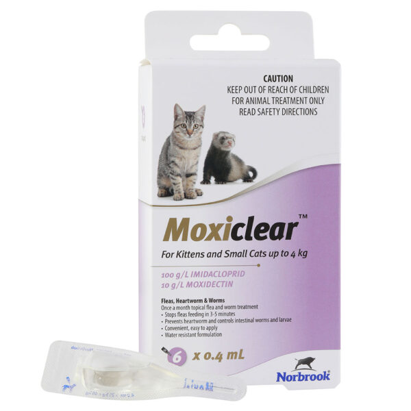 Moxiclear Purple for Kittens and Small Cats - 6 Pack 1