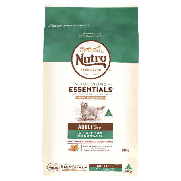 Nutro Wholesome Essentials Adult Dog Weight Management Lamb Rice & Vegetables 13kg 1